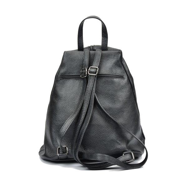 Čierny kožený batoh Luisa Vannini Mell