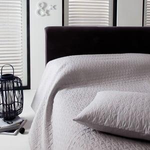 Prikrývka na posteľ Shape Silver, 220x270 cm