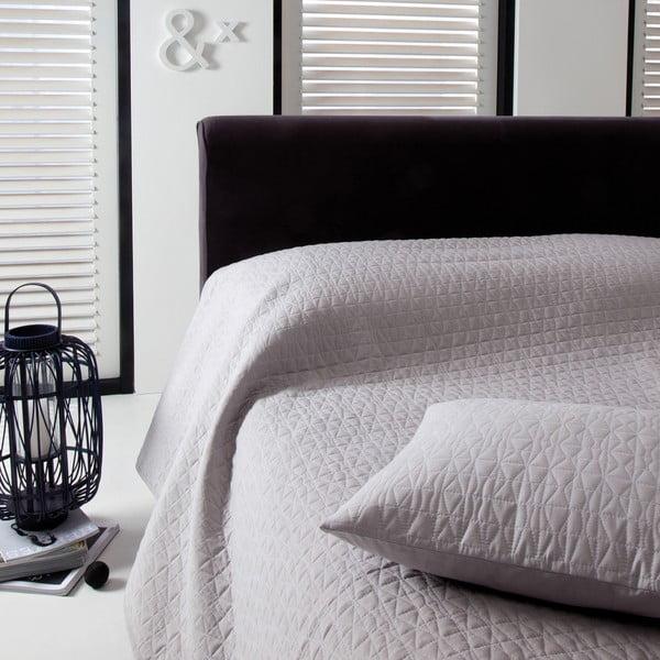 Prikrývka na posteľ Shape Silver, 270x270 cm