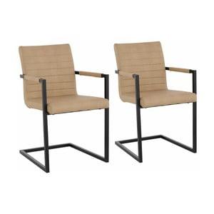 Sada 2 béžových jedálenských  stoličiek s opierkami Støraa Sandra