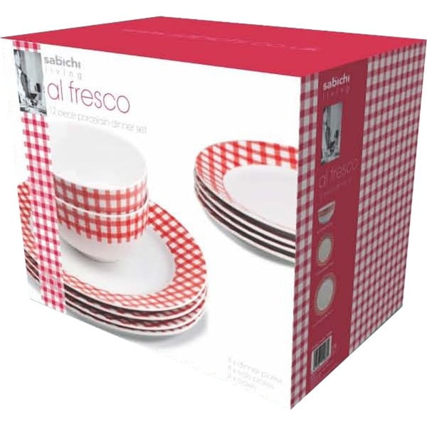 Porcelánový set Al Fresco, 12 ks