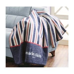 Modrá deka z edície Marie Claire Dinan, 130×170cm