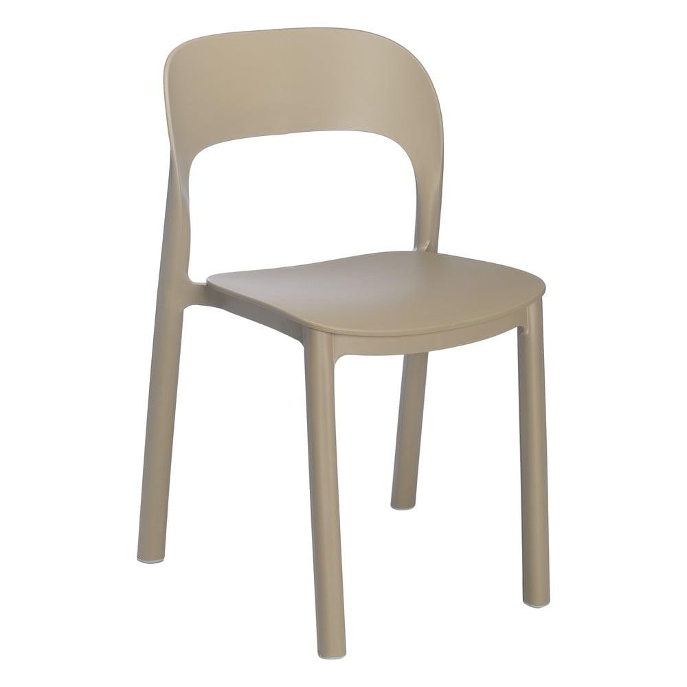 Sada 4 pieskovo hnedých stoličiek stoličky Resol Ona