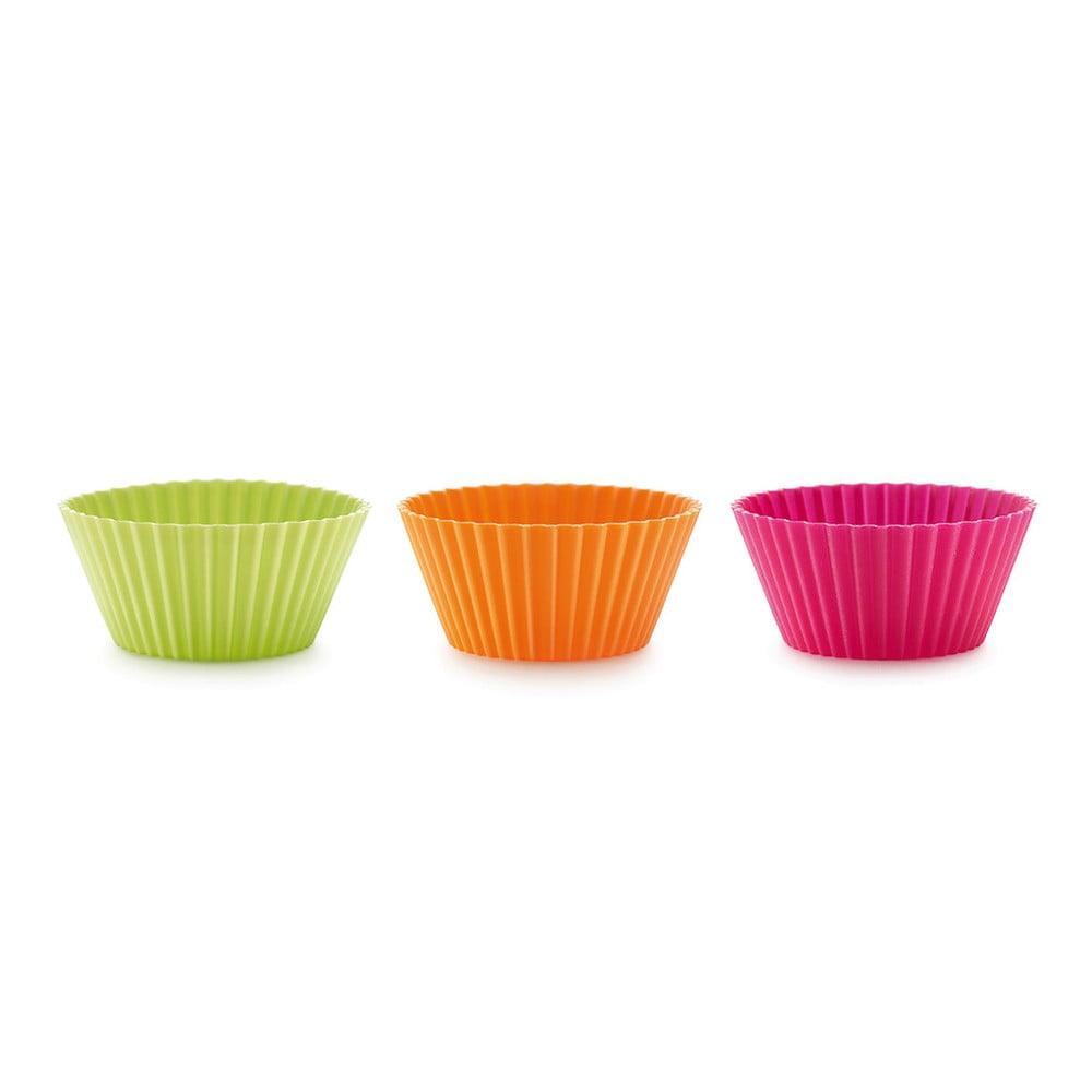 Súprava 6 farebných silikónových foriem na muffiny Lékué