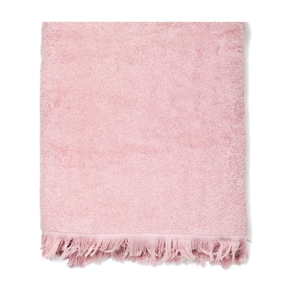Sada 2 ružových bavlnených osušiek Casa Di Bassi Bath, 100x160cm
