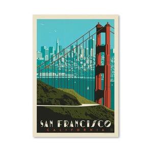 Plagát Americanflat Golden Gate, 42 x 30 cm