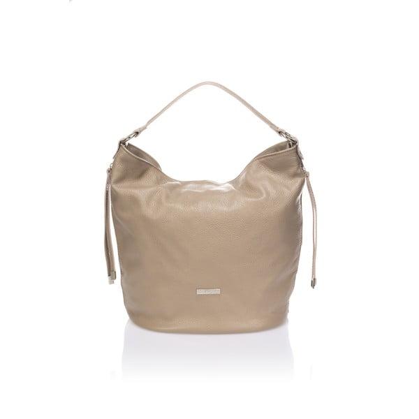 Béžová kožená kabelka Krole Karla