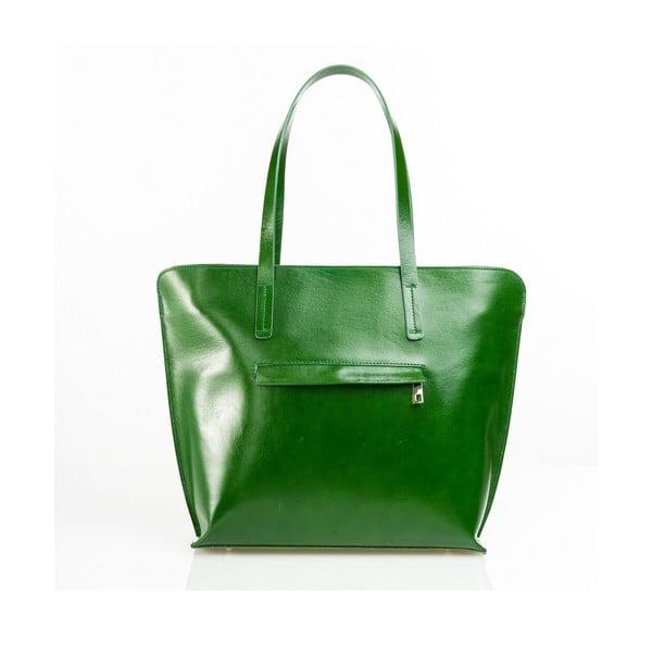 Kožená kabelka Aurel, zelená