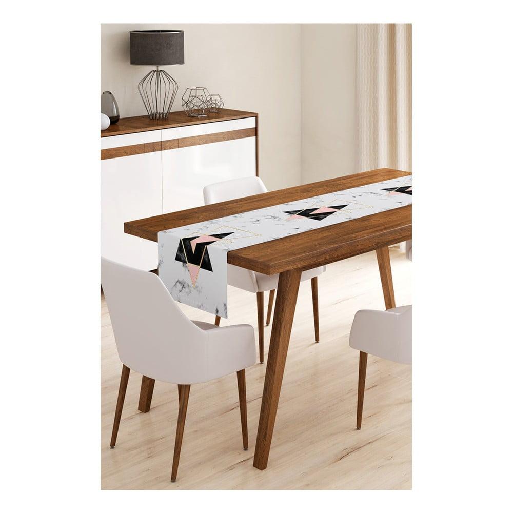 Behúň na stôl z mikrovlákna Minimalist Cushion Covers Marble, 45 × 145 cm