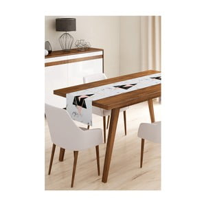 Behúň na stôl z mikrovlákna Minimalist Cushion Covers Marble, 45×145 cm