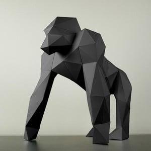 Papierová socha Gorila, čierna