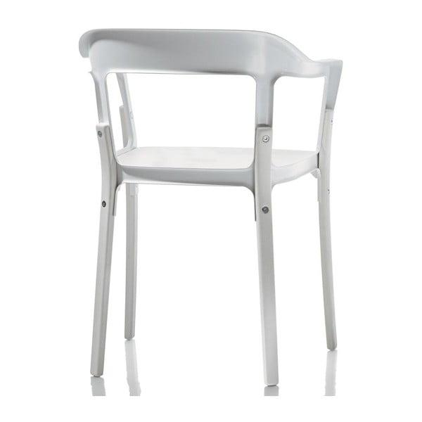 Biela stolička Magis Steelwood
