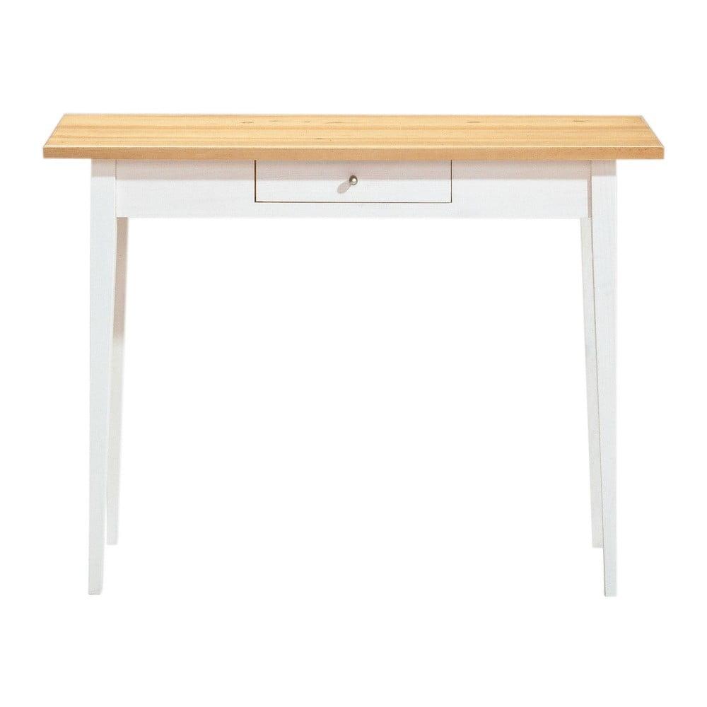 Jedálenský stôl z borovicového dreva so zásuvkou Askala Scala, 100 × 75 cm