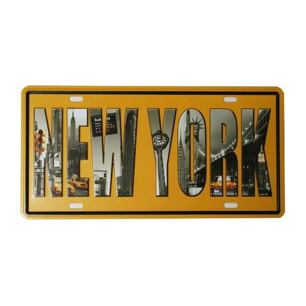 Ceduľa New York, 15x30 cm