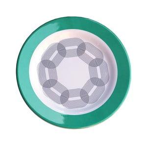 Sada 6 melamínových tanierikov Sunvibes Maillon Vert, ⌀ 20 cm