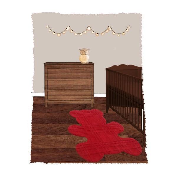 Detský koberec Teddy Rouge, 100x120 cm
