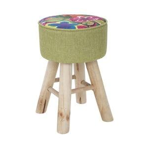 Stolička s podnožou z kaučukovníkového dreva Mauro Ferretti Hippie, Ø28 cm
