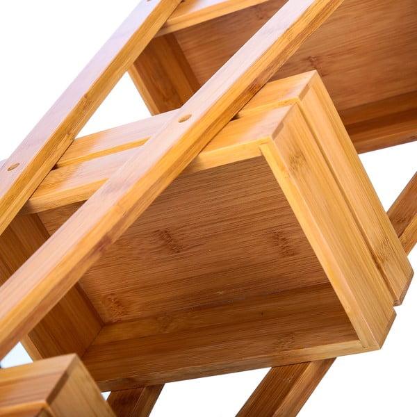 Trojposchodový bambusový stojan Unimasa Bamboo