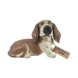 Dekorácia z teakového dreva Moycor Bruno Dog, výška 20 cm