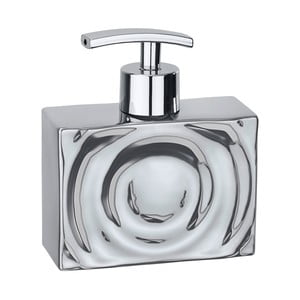Keramický dávkovač na mydlo v striebornej farbe Wenko Signs