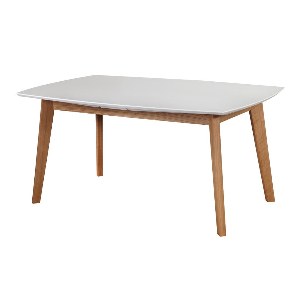 223ef5b212011 Biely rozkladací jedálenský stôl Dřevotvar Ontur 35, 160 × 100 cm ...