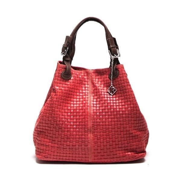 Kožená kabelka Isabella Rhea 858, červená