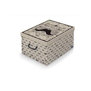 Úložný box s rukojetí Domopak Mustache, dĺžka 50 cm