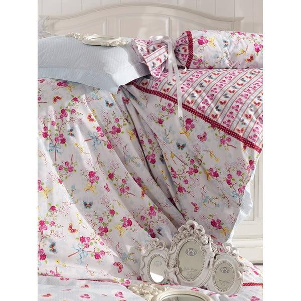 Ružové obliečky s plachtou Love Colors Emma, 200 x 220 cm