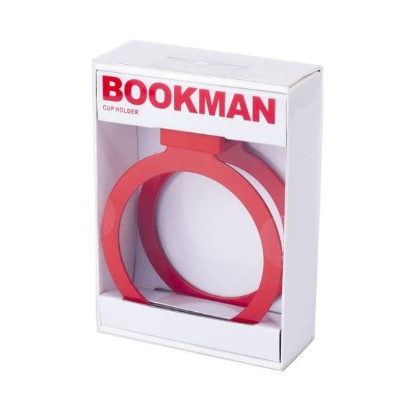 Červený držiak na pohárik Bookman