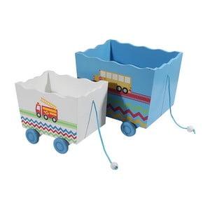 Sada 2 detských úložných boxov Wooden