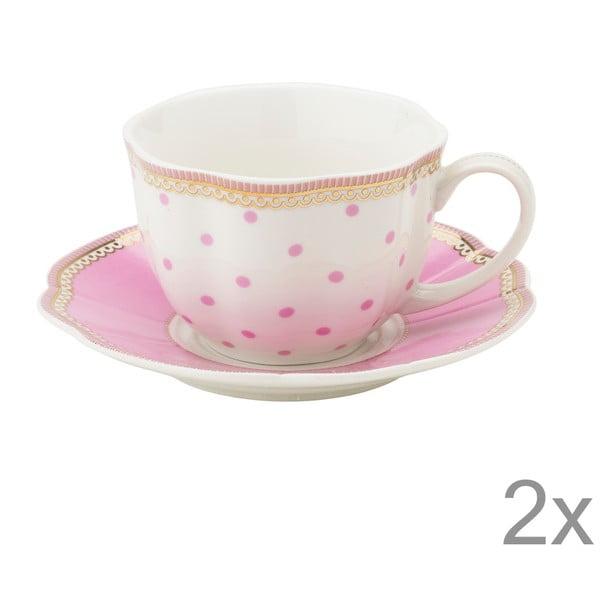 Porcelánová šálka s tanierikom Rosie od Lisbeth Dahl, 2 ks