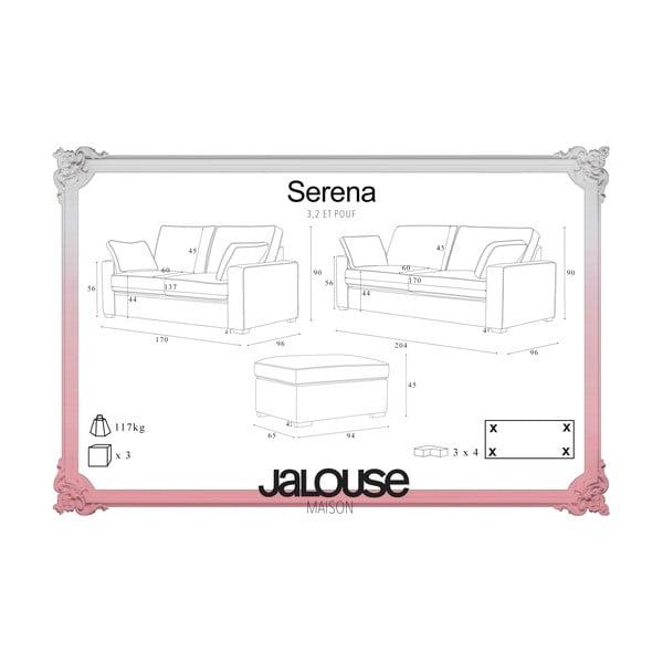 Trojdielna sedacia súpravaJalouse Maison Serena, antracitová