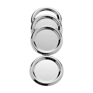 Sada 4 podložiek z antikoro ocele Steel Function Coasters, ø 10 cm