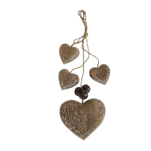 Závesná dekorácia Antic Line Wood Garland Hearts