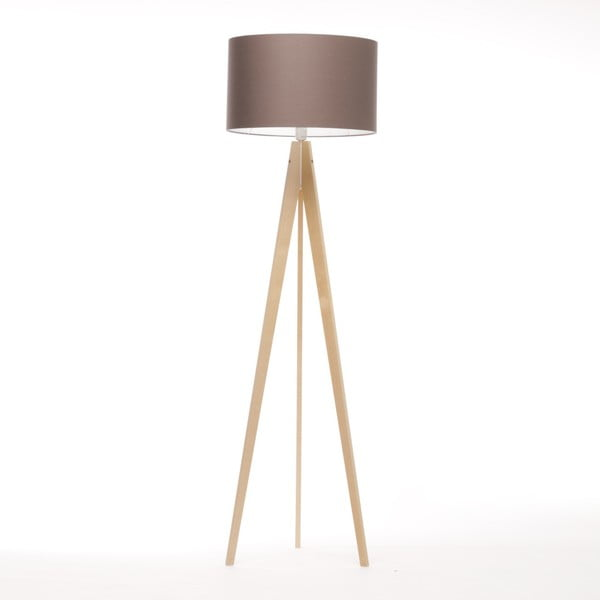 Hnedá stojacia lampa 4room Artist, breza, 150 cm