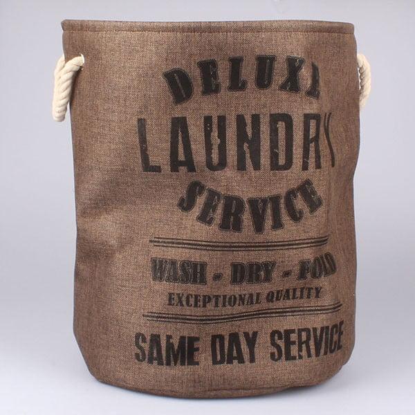 Kôš na bielizeň Laundry Service, hnedý