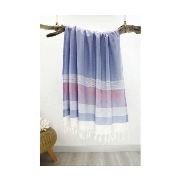 Farebná osuška z čistej bavlny Hammam Strip Style, 90 x 180 cm