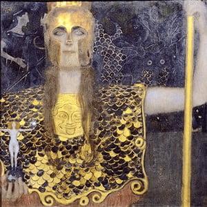 Obraz Gustav Klimt - Pallas Athene, 45x45 cm