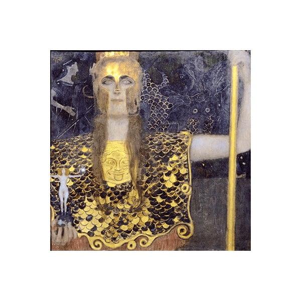 Obraz Gustav Klimt - Pallas Athene, 70x70 cm