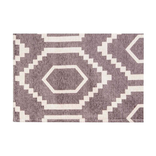 Vysokoodolný kuchynský koberec Honeycomb Hazel, 60x220 cm