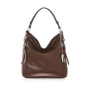 Hnedá kožená kabelka Anna Morellini Muriel