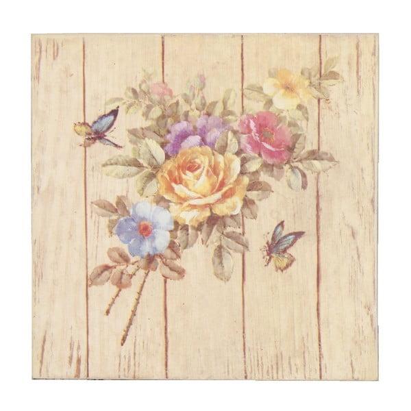 Obraz s kvetmi Puget, 20x20 cm