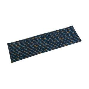 Modrý stolový behúň Versa Blue Bay, 154x44,5 cm