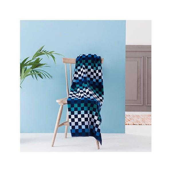 Osuška Squares Blue, 100x180 cm
