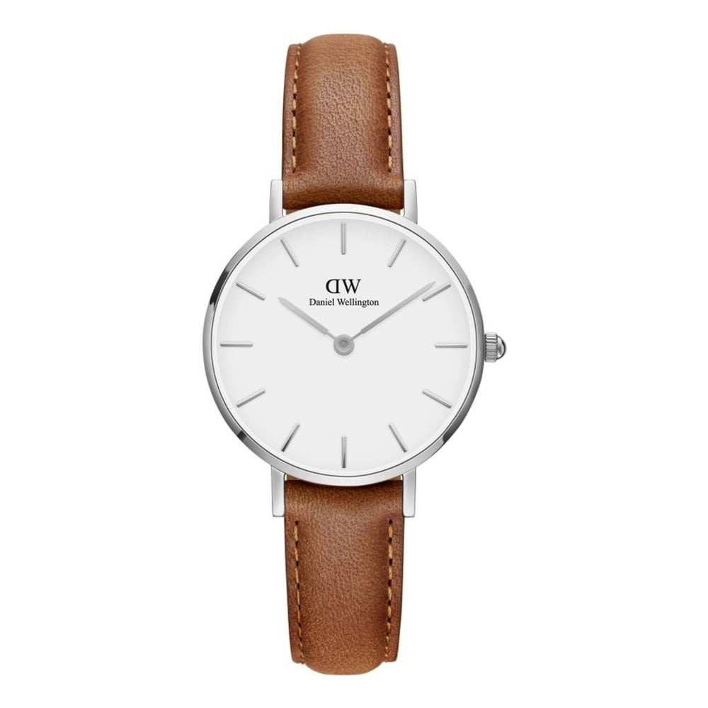 Dámske hodinky s koženým remienkom a bielym ciferníkom Daniel Wellington Petite Durham, ⌀ 28 mm