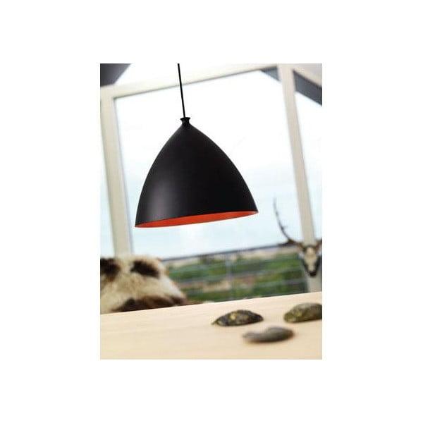 Závesné svetlo Slope 35 cm, čierne/červené
