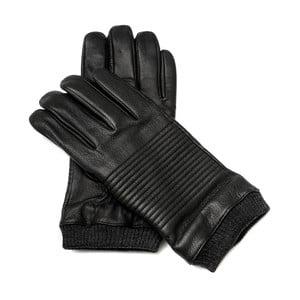 Pánske čierne kožené rukavice Pride & Dignity Snoop, veľ. XL