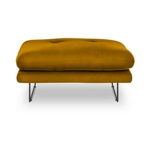 Žltý puf so zamatovým poťahom Windsor & Co Sofas Gravity