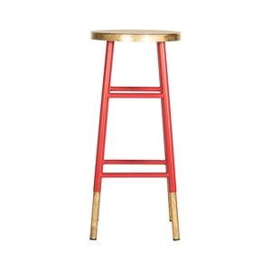 Červená stolička na sedenie Safavieh Kia
