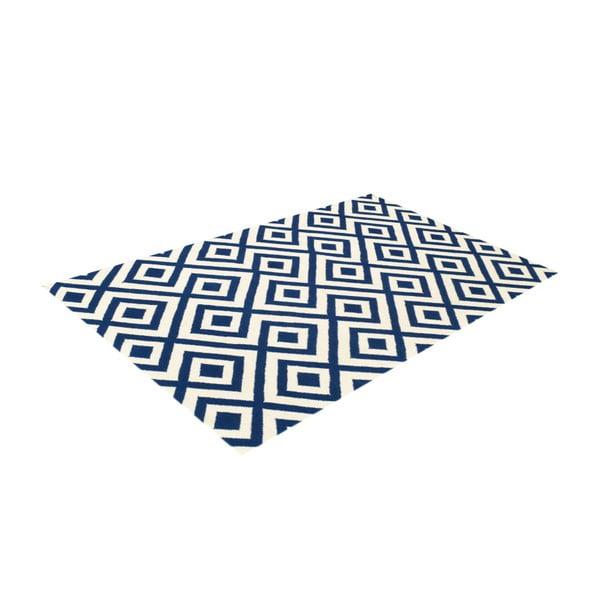Vlnený koberec Luisa Dark Blue, 180x120 cm